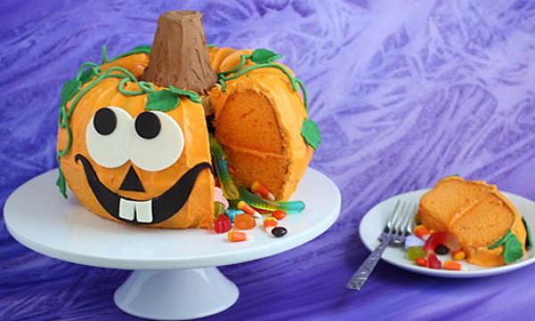 Забавная торт-тыква на Хэллоуин. Фото-урок