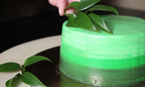 Как сделать покрытие торта омбре. Фото-урок