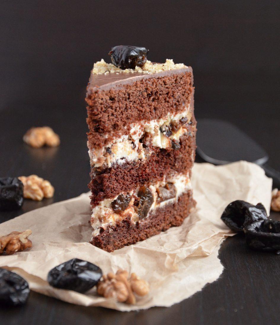 торт с черносливом рецепт с фото сметана 2 коржа