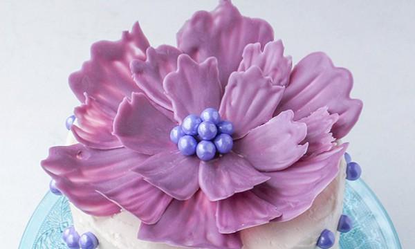 Шоколадный цветок. Фото-урок