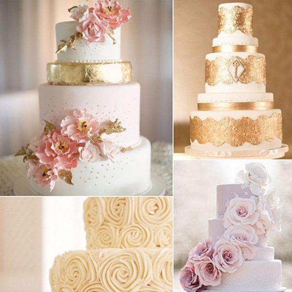 15 горячих трендов в оформлении свадебных тортов