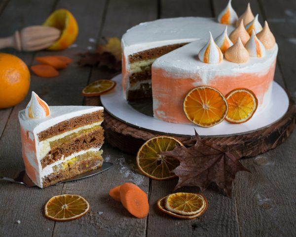 морковно-апельсиновый торт