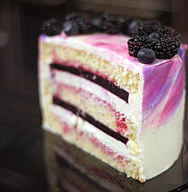 Авторский рецепт черничного торта