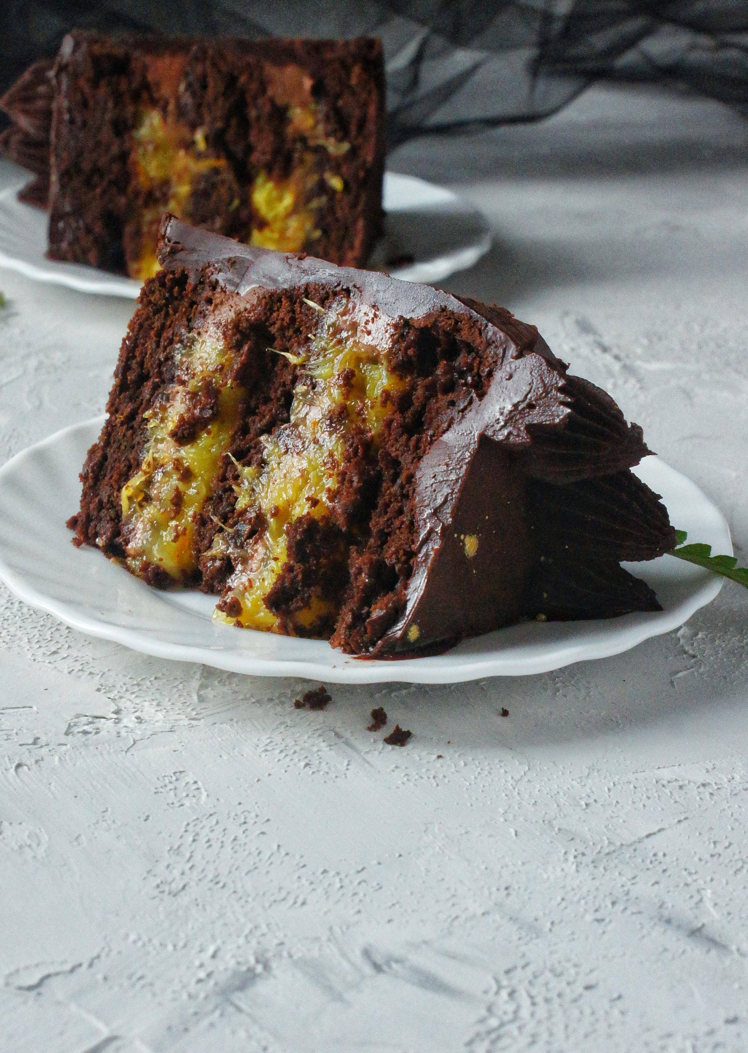 шоколадно апельсиновый торт