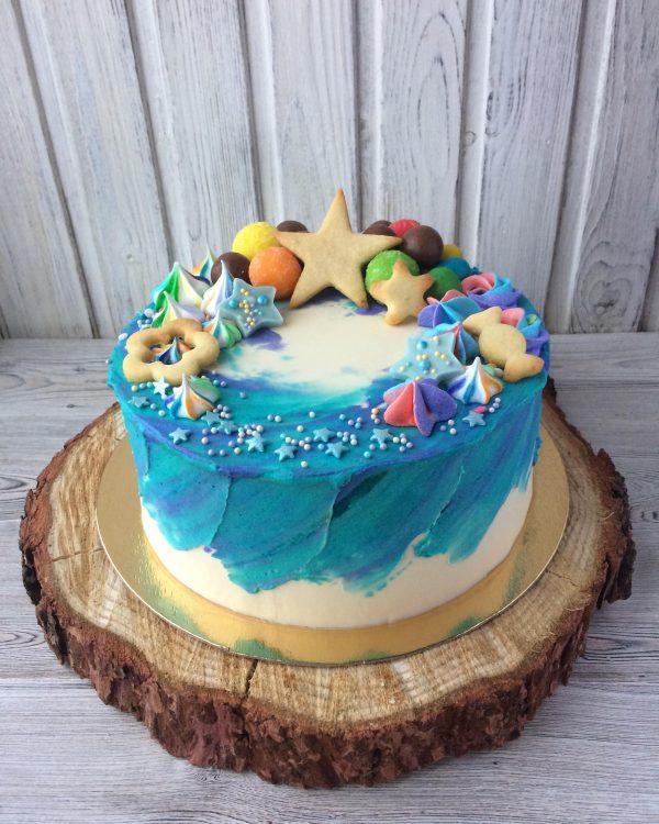 акварельная техника декора торта