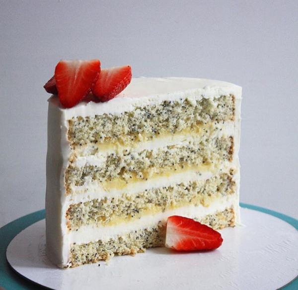 Авторский рецепт маково-лимонного торта