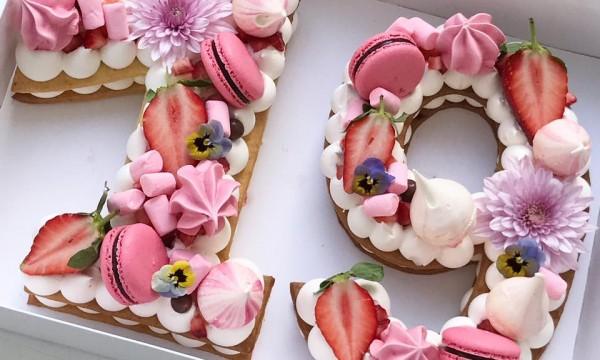 Новый тренд: торт-буква или торт-цифра