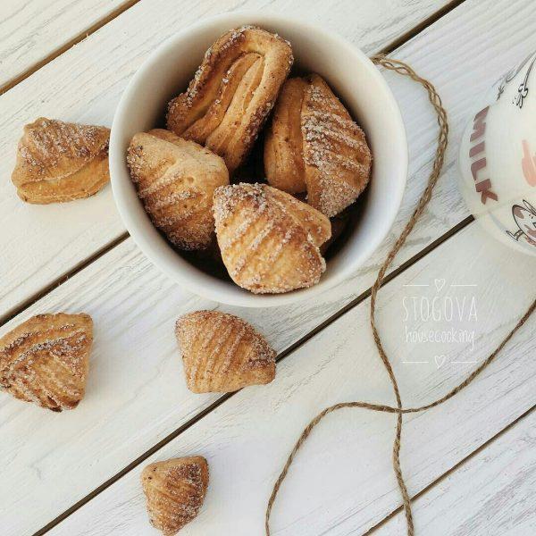 творожное печенье, печенье гусиные лапки, homebaked.ru