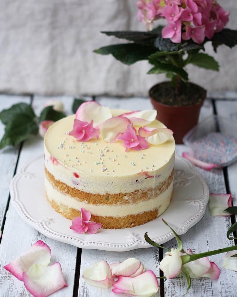бисквитный торт, муссовый торт, кокосовый торт, homebaked.ru