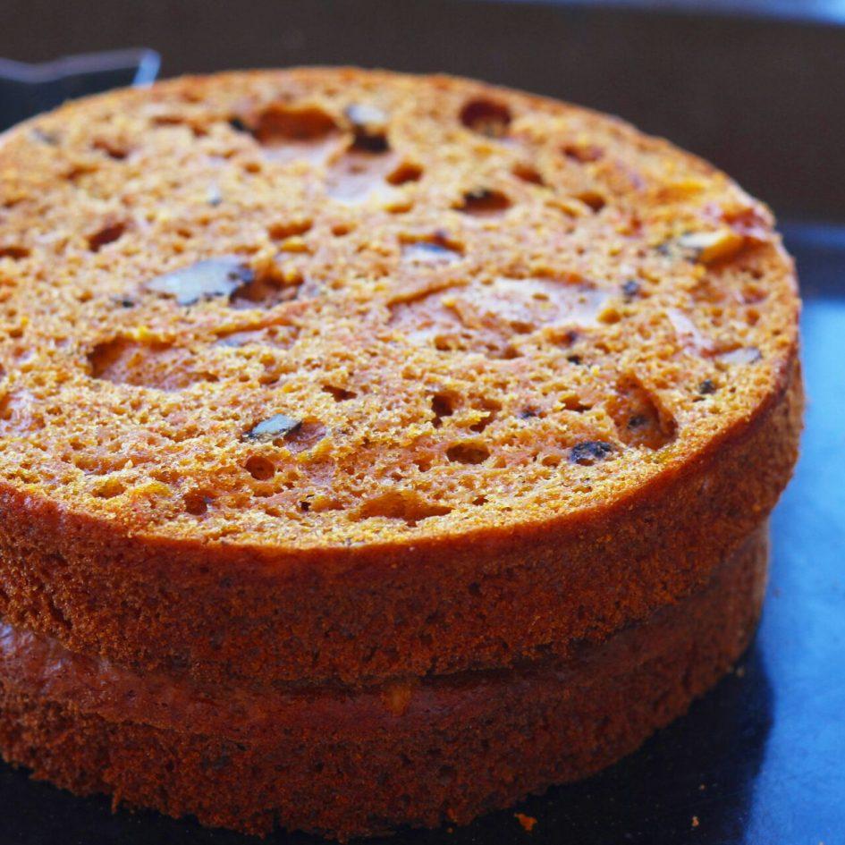 морковный торт, морковные коржи, торт, homebaked.ru