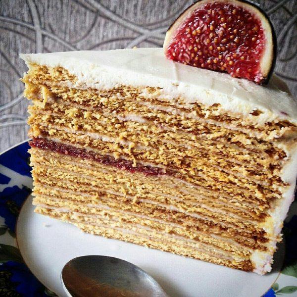 Медовый торт с шоколадным кремом
