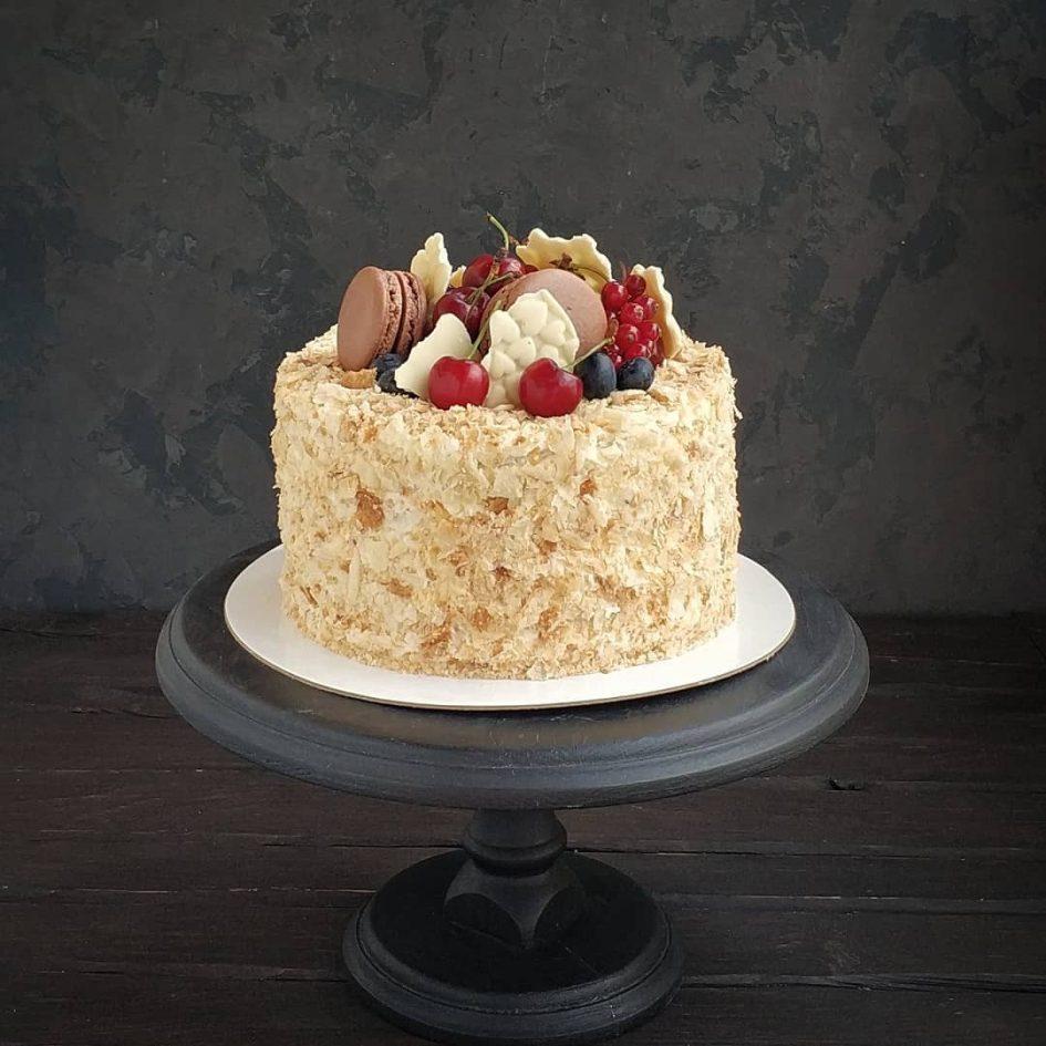 слоеное тесто, торт Наполеон, торт из слоеного теста