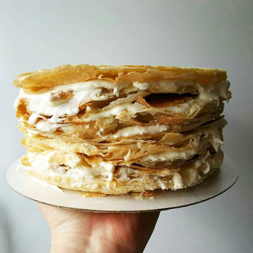 торт наполеон, слоеное тесто, торт из слоеного теста