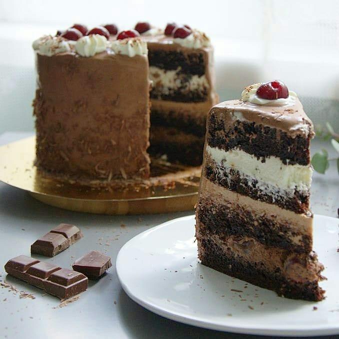 шоколадный торт, шоколадно-вишневый торт