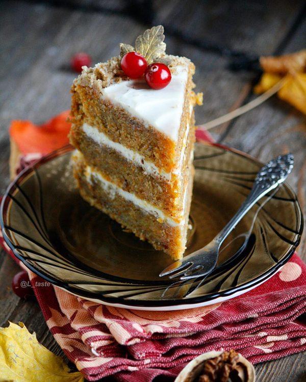постный морковный торт, морковный торт, пп-торт