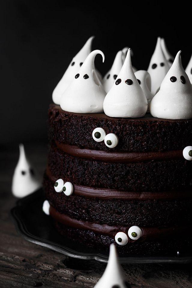 шоколадный торт, торт на хэллоуин