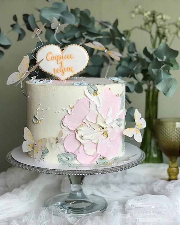 Рецепт торта «Малина-Матча»