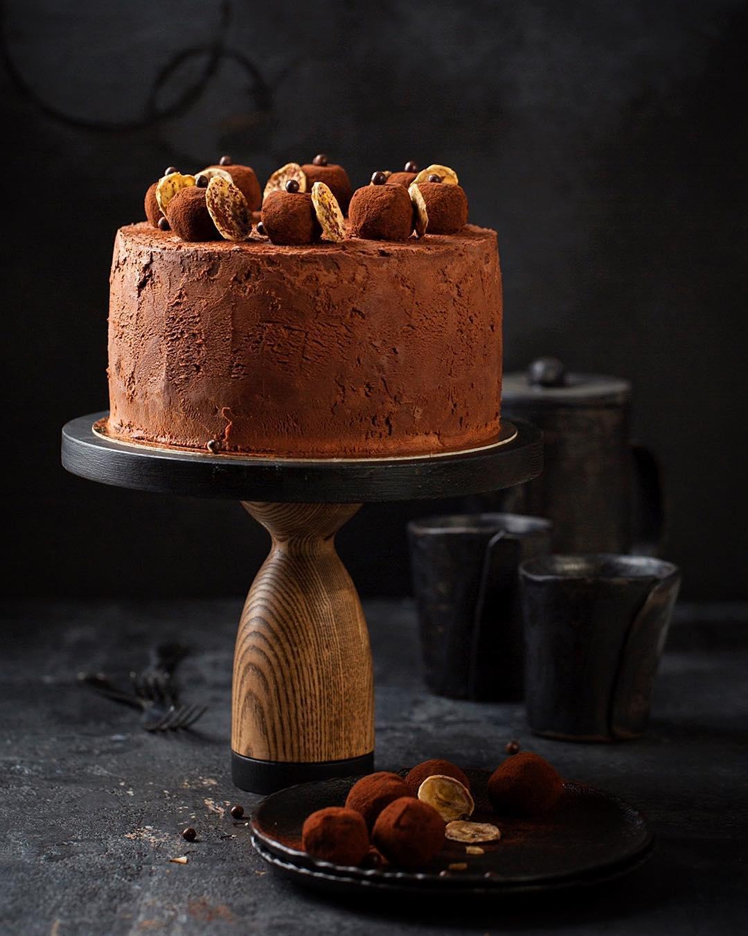 шоколадный торт, торт с бананами, банановый торт, шоколадно-банановый торт