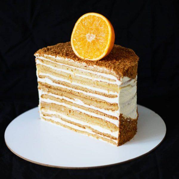 Медовик с апельсиновым кремом