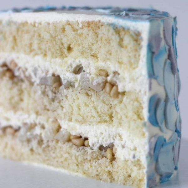 Рецепт торта «Груша-Дор блю-кедровые орехи»
