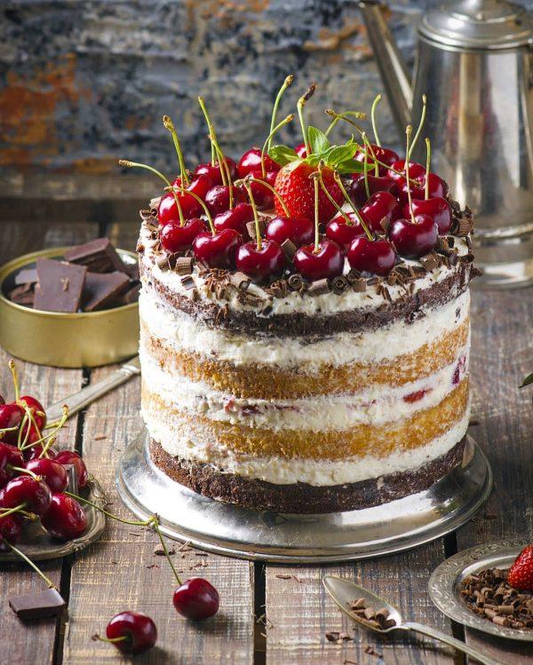 торт шоколадно-ванильный